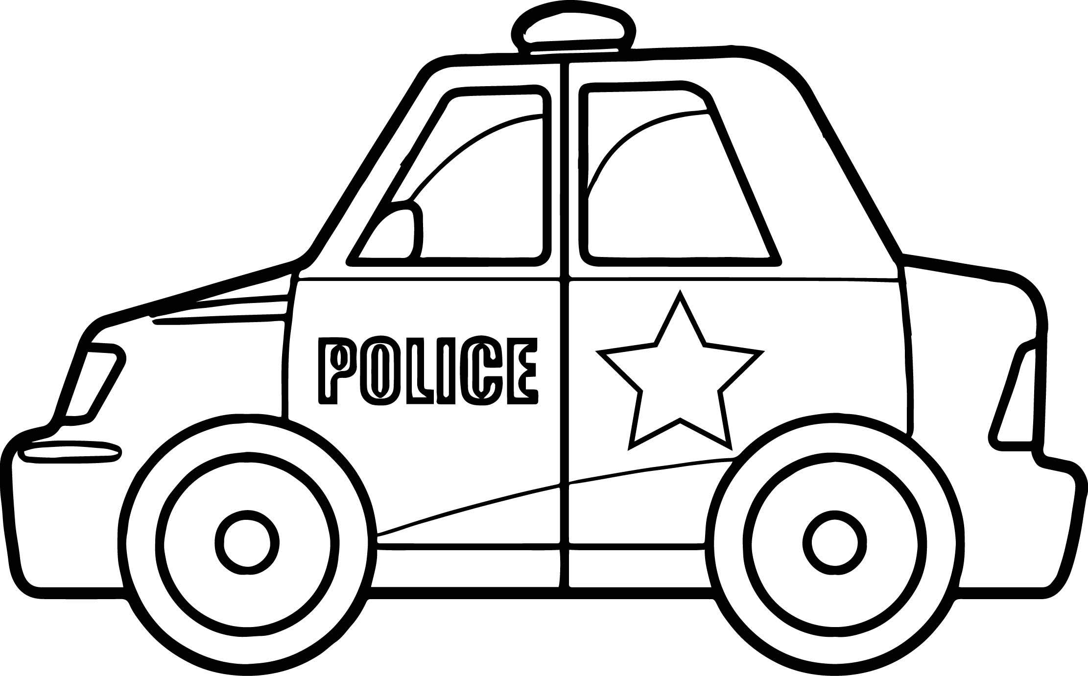 Bộ tranh tô màu xe ô tô cảnh sát đẹp 12