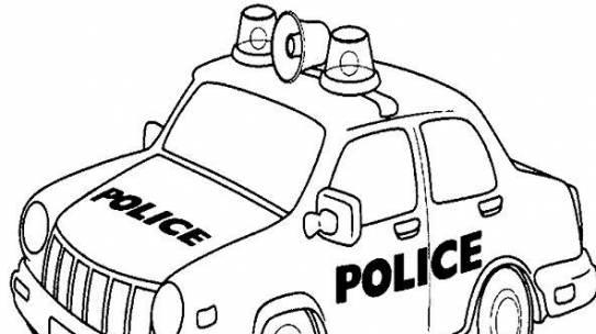 Bộ tranh tô màu xe ô tô cảnh sát đẹp