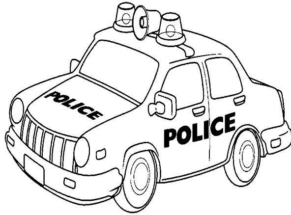 Bộ tranh tô màu xe ô tô cảnh sát đẹp 15