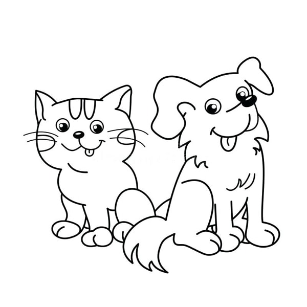 Bố sự tập 1000+ tranh tô màu con chó phát triển sáng tạo 41