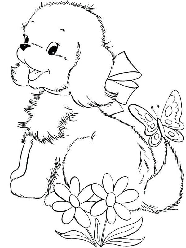 Bố sự tập 1000+ tranh tô màu con chó phát triển sáng tạo 49