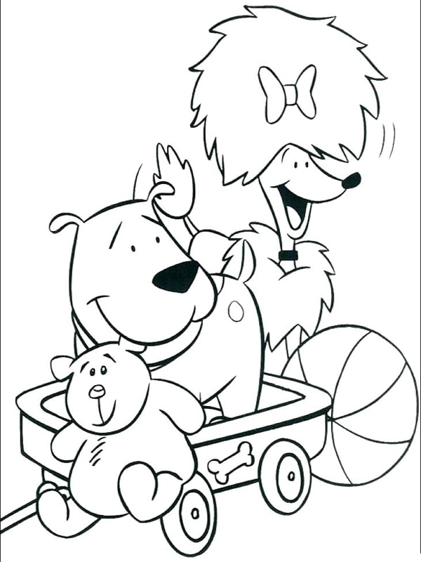 Bố sự tập 1000+ tranh tô màu con chó phát triển sáng tạo 34