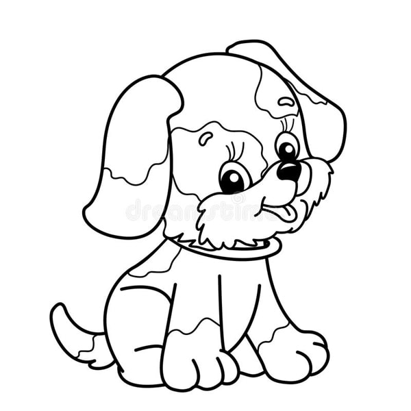 Bố sự tập 1000+ tranh tô màu con chó phát triển sáng tạo 37
