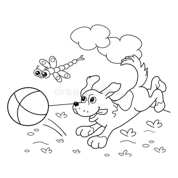 Bố sự tập 1000+ tranh tô màu con chó phát triển sáng tạo 38