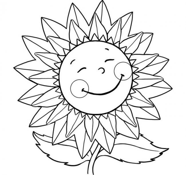 Bộ sưu tập tranh tô màu hoa hướng dương và biết ý nghĩa của hoa 14