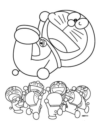 Bộ Sưu Tập Vẽ Tranh Tô Màu Doremon đẹp đáng Yêu Teachvncom