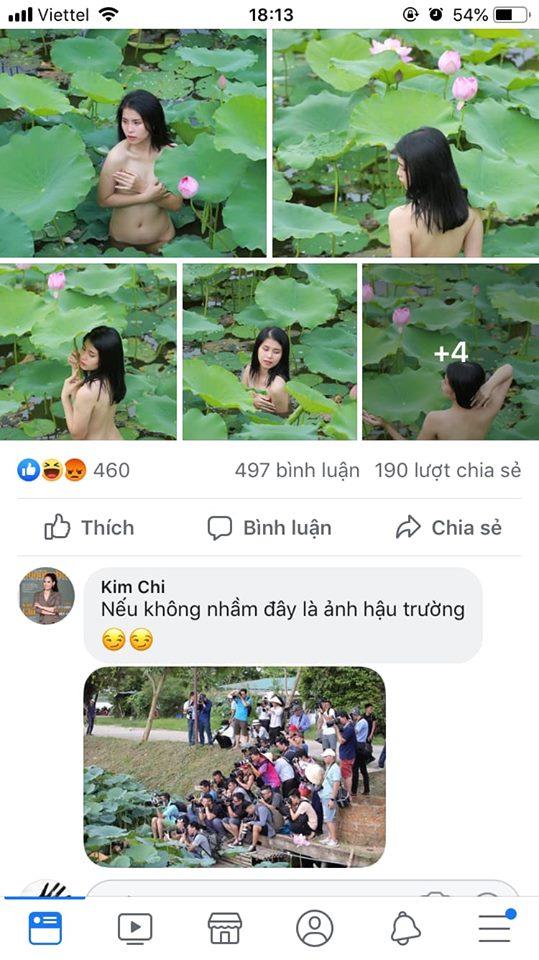 Cô gái chụp ảnh Nude khỏa thân tại đầm sen gây phẫn nộ MXH 4