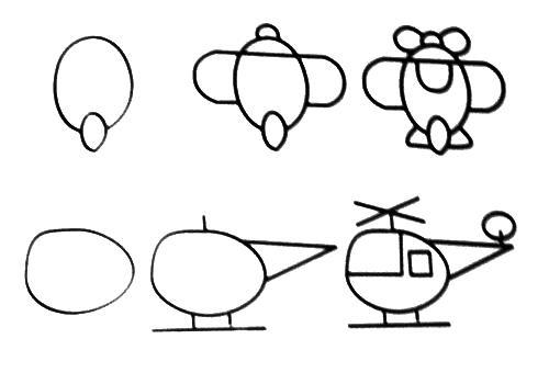 Cách vẽ máy bay đơn giản nhất chỉ với 5 bước 2