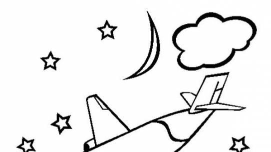 Download tranh tô màu máy bay phi cơ đẹp cho bé ước mơ phi công