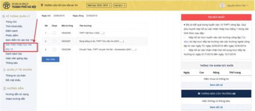 Hướng dẫn chi tiết 6 bước xác nhận nhập học trực tuyến vào lớp 10 Hà Nội 12