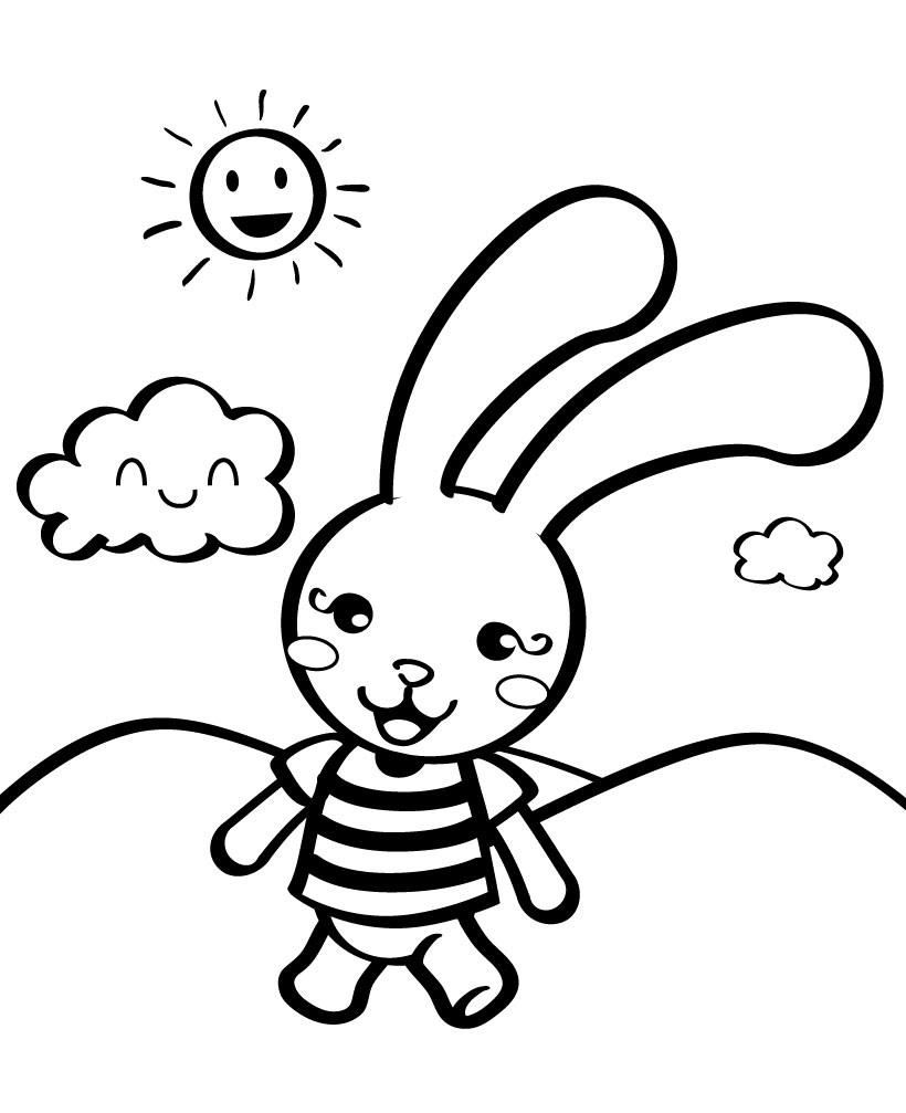 Bộ sưu tập tranh tô màu con thỏ ngộ nghĩnh đáng yêu 49