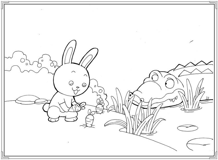 Bộ sưu tập tranh tô màu con thỏ ngộ nghĩnh đáng yêu 40