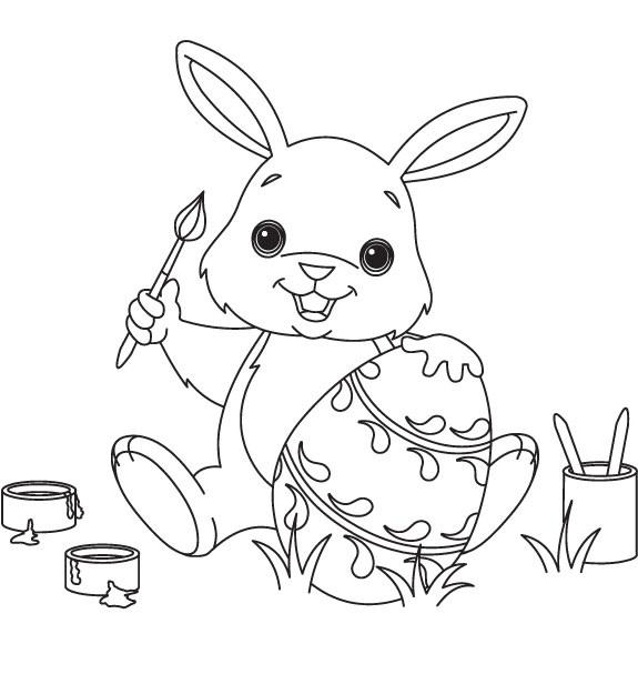 Bộ sưu tập tranh tô màu con thỏ ngộ nghĩnh đáng yêu 46