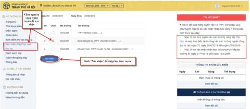 Hướng dẫn chi tiết 6 bước xác nhận nhập học trực tuyến vào lớp 10 Hà Nội 13