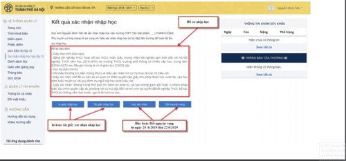Hướng dẫn chi tiết 6 bước xác nhận nhập học trực tuyến vào lớp 10 Hà Nội 15