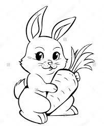 Bộ sưu tập tranh tô màu con thỏ ngộ nghĩnh đáng yêu 52