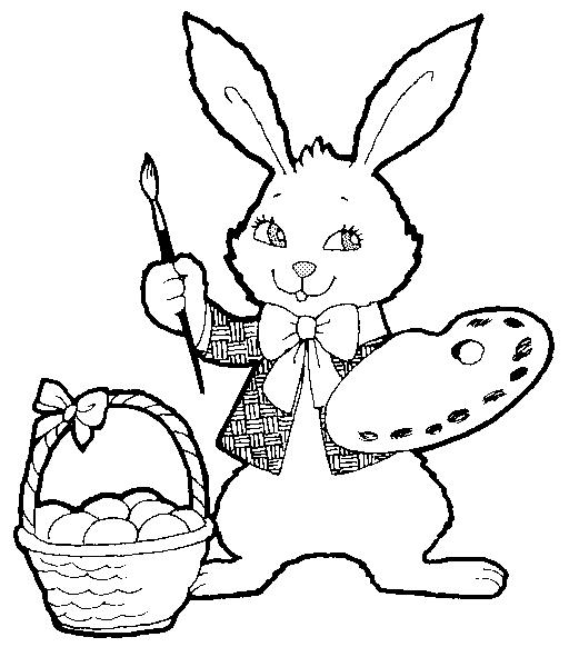 Bộ sưu tập tranh tô màu con thỏ ngộ nghĩnh đáng yêu 54