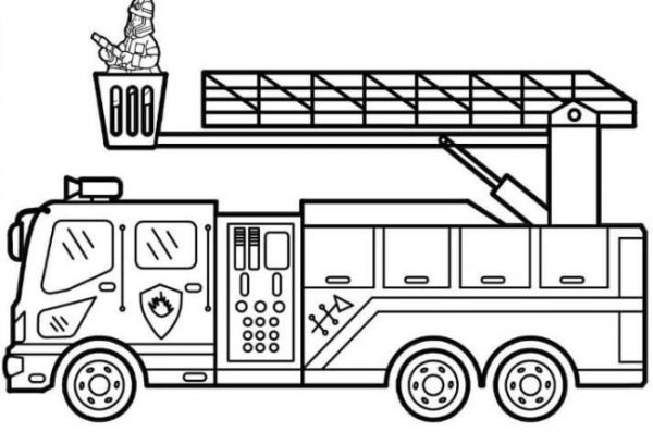 Download tranh tô màu xe cứu hỏa cho bé chủ đề nghiệp 5