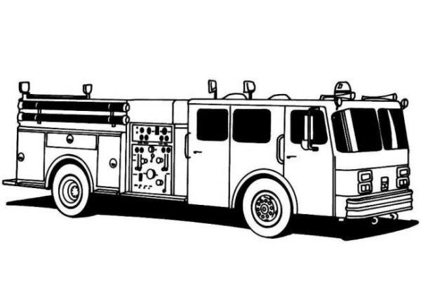 Download tranh tô màu xe cứu hỏa cho bé chủ đề nghiệp 6