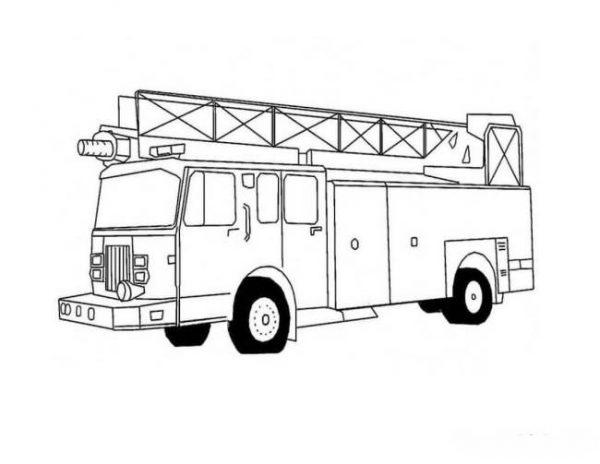 Download tranh tô màu xe cứu hỏa cho bé chủ đề nghiệp 7