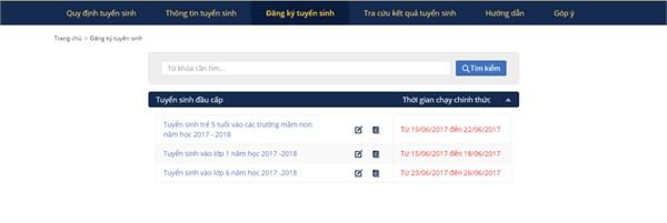 Hướng dẫn đăng ký tuyển sinh trực tuyến vào lớp 6 THCS năm học 2019 - 2020 14