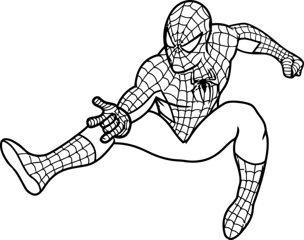 Download bộ sưu tập tranh tô màu người nhện 9