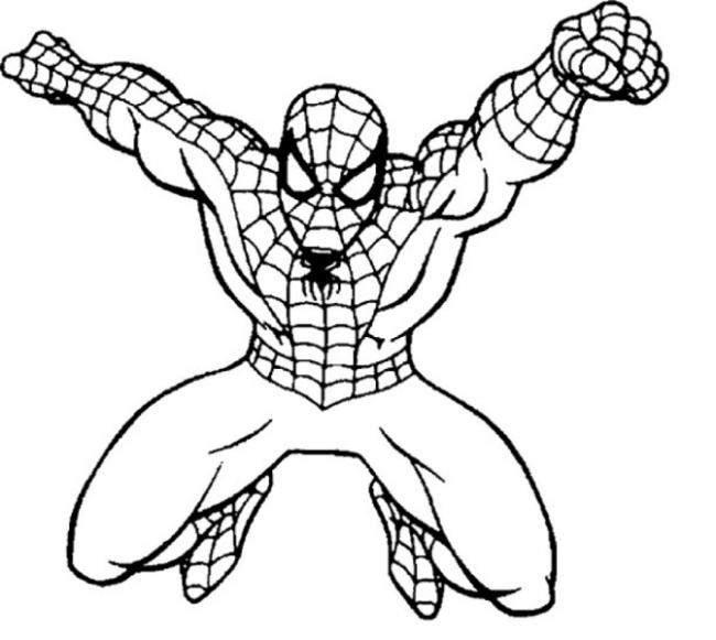 Download bộ sưu tập tranh tô màu người nhện 10