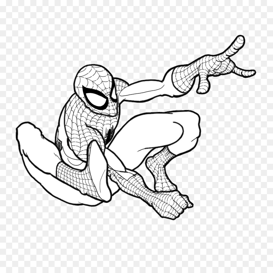 Download bộ sưu tập tranh tô màu người nhện 14