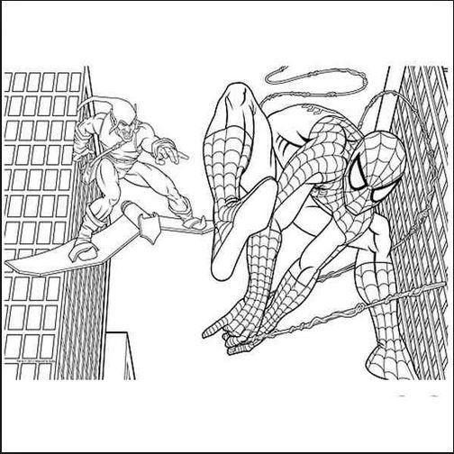 Download bộ sưu tập tranh tô màu người nhện 12