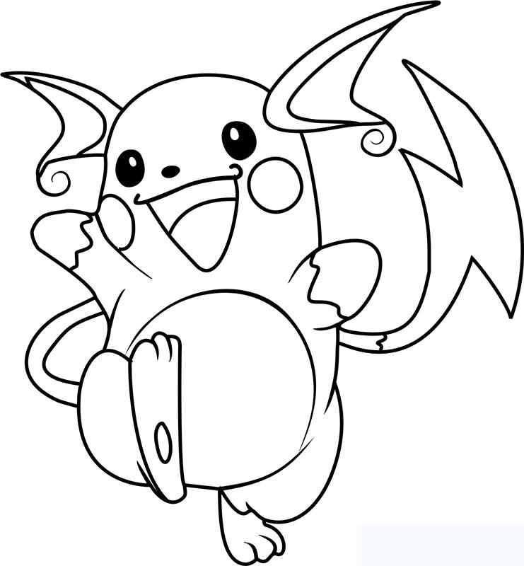 Tranh tô màu Pokemon go cho bé đẹp nhất hiện nay 20