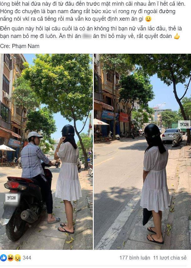 Kiên nhẫn chở bạn gái cả tiếng đồng hồ vẫn chưa chốt ăn gì, bạn trai bực bội bỏ cô gái giữa đường rồi đi về 1