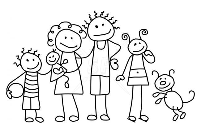Bộ sưu tập tranh tô màu gia đình cho bé chủ đề gia đình hạnh phúc 8