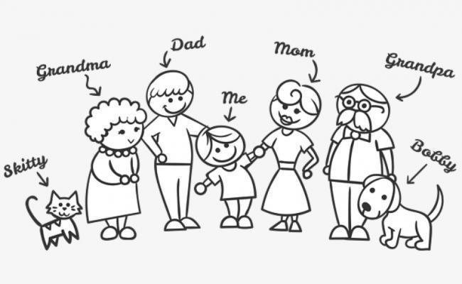 Bộ sưu tập tranh tô màu gia đình cho bé chủ đề gia đình hạnh phúc 2