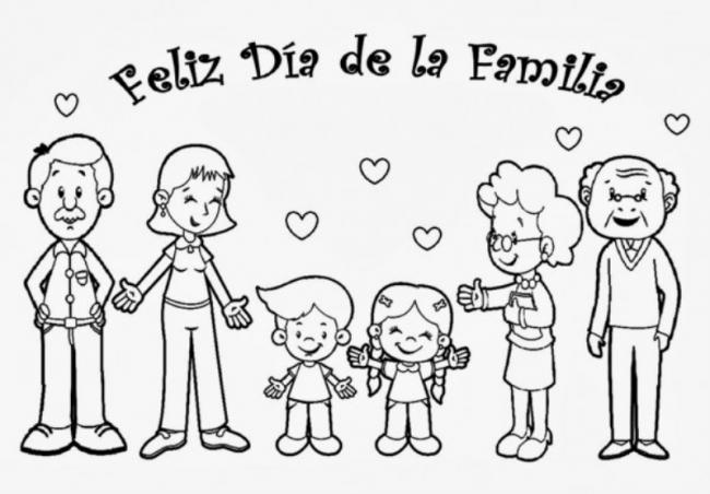 Bộ sưu tập tranh tô màu gia đình cho bé chủ đề gia đình hạnh phúc 7