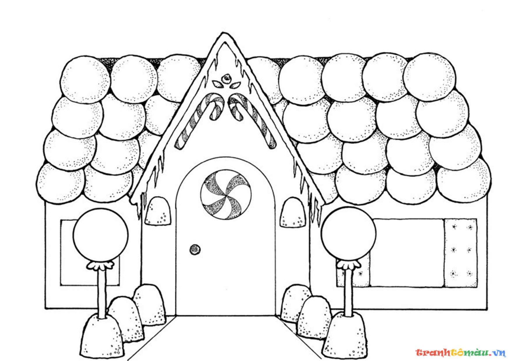 Bộ sưu tập tranh tô màu ngôi nhà cho bé tập tô 6