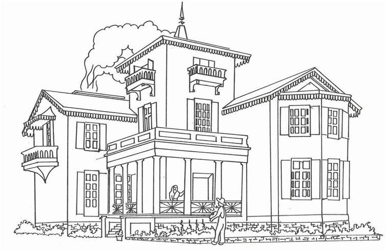 Bộ sưu tập tranh tô màu ngôi nhà cho bé tập tô 11