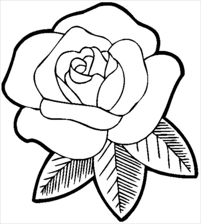 Download tranh tô màu hoa hồng cho bé được tải nhiều nhất 14