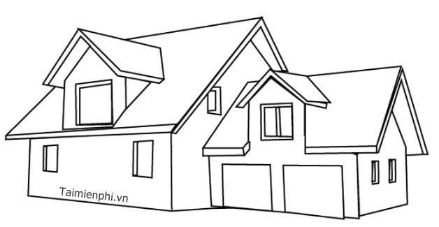 Bộ sưu tập tranh tô màu ngôi nhà cho bé tập tô 18