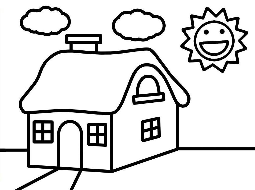Bộ sưu tập tranh tô màu ngôi nhà cho bé tập tô 21