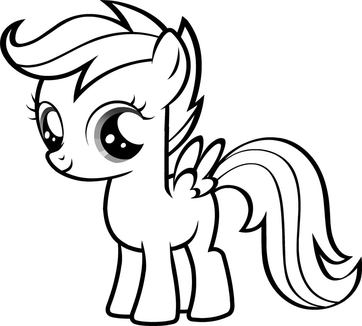 Tải tranh tô màu Pony siêu đáng yêu dành cho bé | Ngựa pony 96