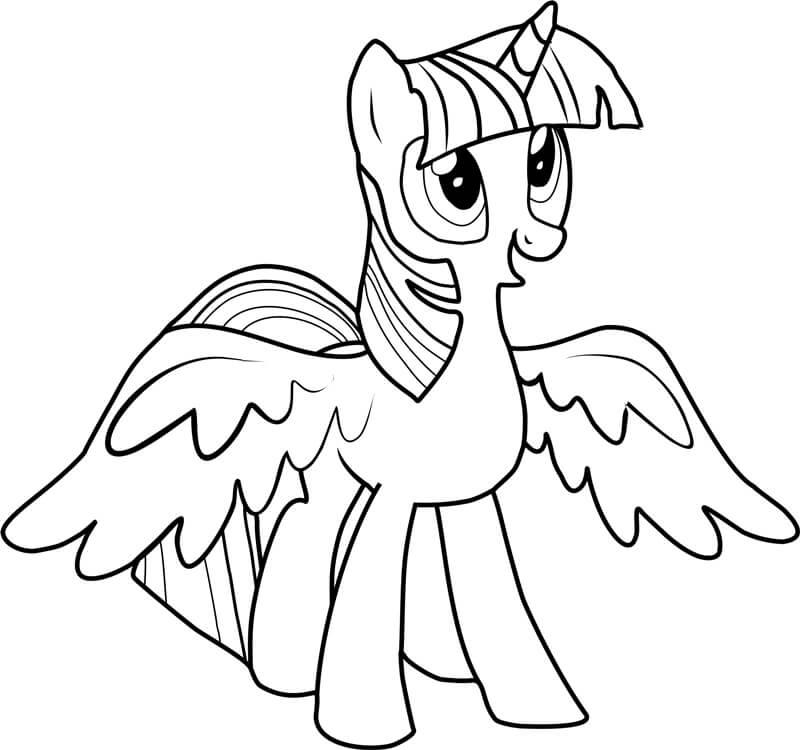 Tải tranh tô màu Pony siêu đáng yêu dành cho bé | Ngựa pony 97