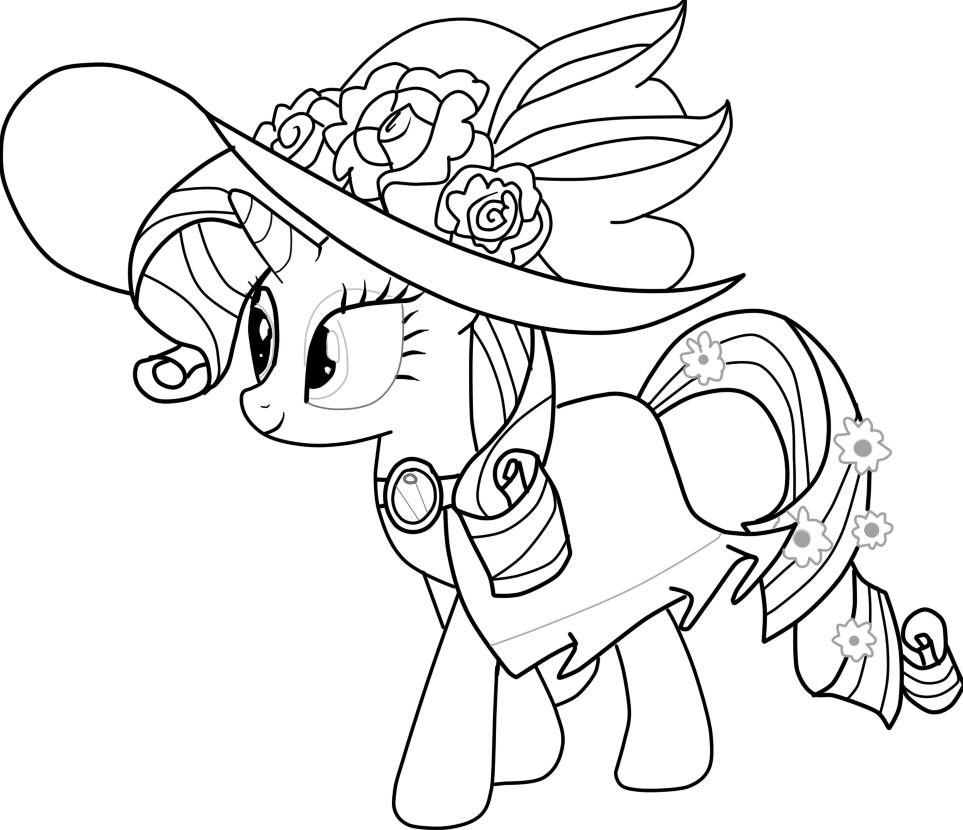 Tải tranh tô màu Pony siêu đáng yêu dành cho bé | Ngựa pony 98