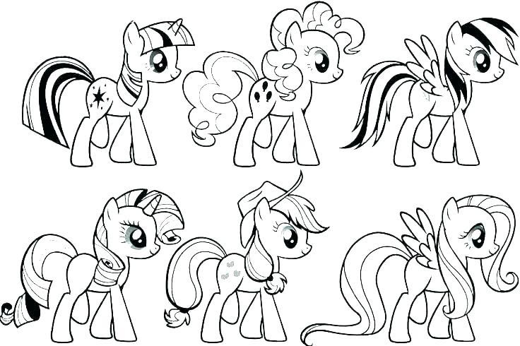Tải tranh tô màu Pony siêu đáng yêu dành cho bé | Ngựa pony 99
