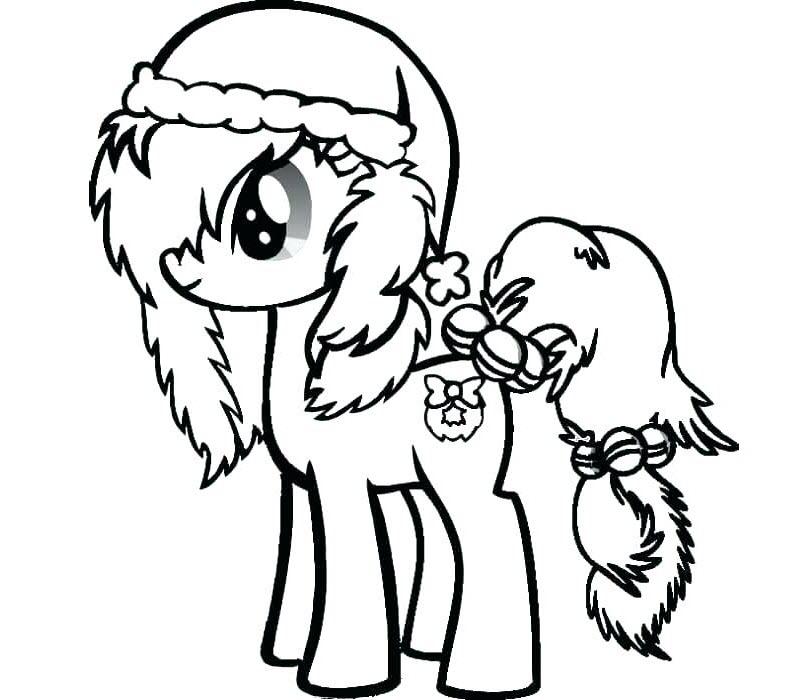 Tải tranh tô màu Pony siêu đáng yêu dành cho bé | Ngựa pony 100