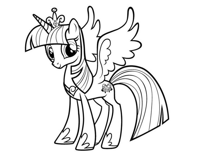 Tải tranh tô màu Pony siêu đáng yêu dành cho bé | Ngựa pony 101