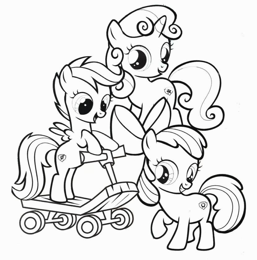 Tải tranh tô màu Pony siêu đáng yêu dành cho bé | Ngựa pony 103