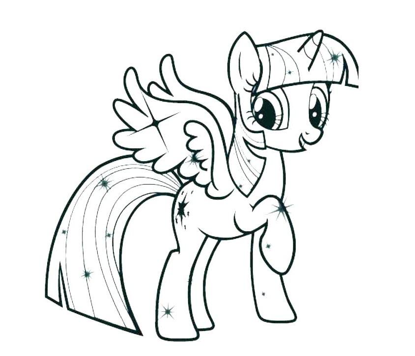 Tải tranh tô màu Pony siêu đáng yêu dành cho bé | Ngựa pony 86