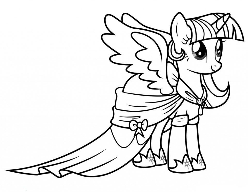 Tải tranh tô màu Pony siêu đáng yêu dành cho bé | Ngựa pony 104