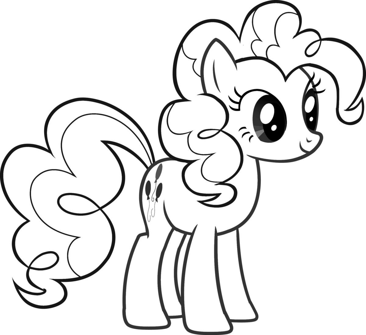 Tải tranh tô màu Pony siêu đáng yêu dành cho bé | Ngựa pony 106