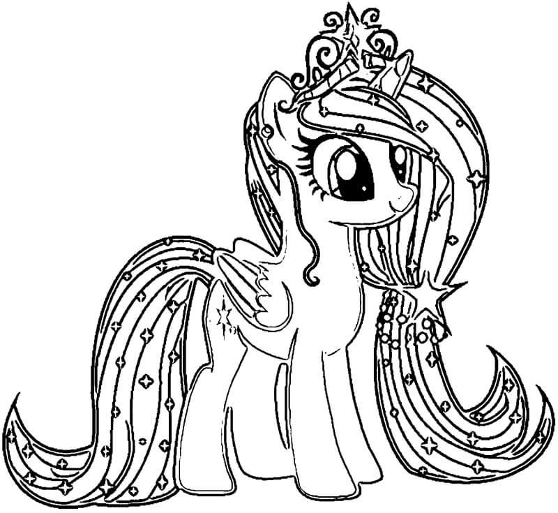 Tải tranh tô màu Pony siêu đáng yêu dành cho bé | Ngựa pony 108